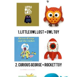 buy a book and sew a toy to go with it---cute gift idea!