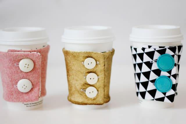 Diy Coffee Cozy Pattern And Tutorial See Kate Sew