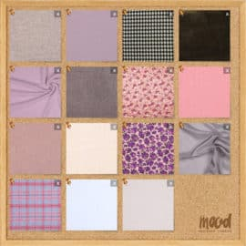 "MoodFabrics.com has a ""Mood Board"" App that let's you paste all your fabrics in one place. awesome."