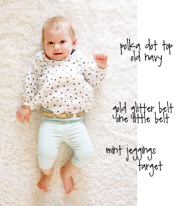 BABY STYLE // polka dot + mint