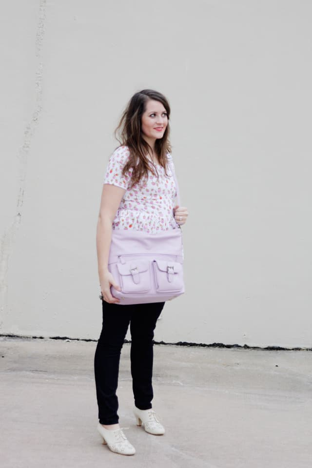 jototes gracie bag in lilac for camera