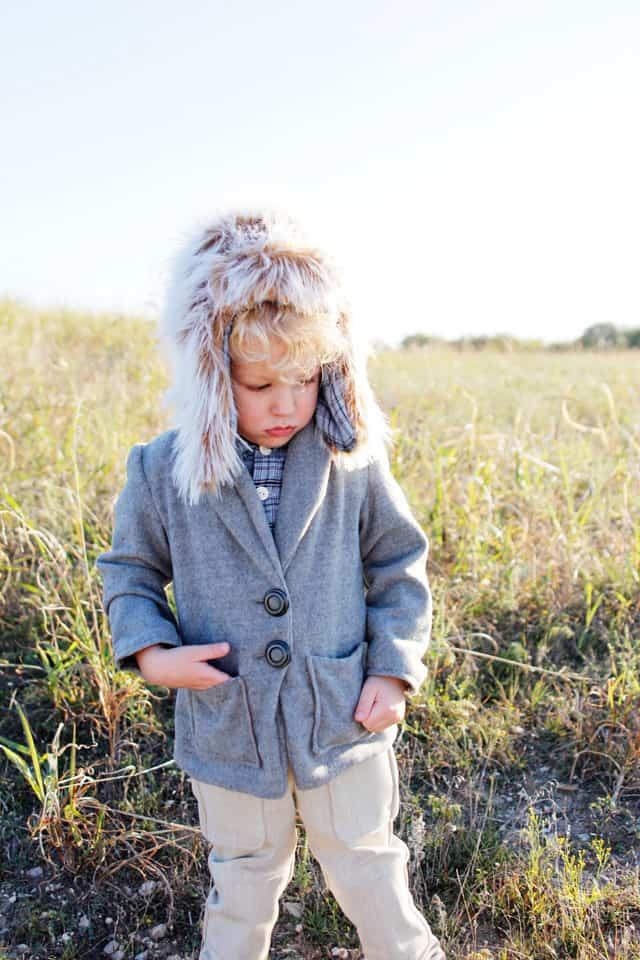 trapper hat + berkshire blazer