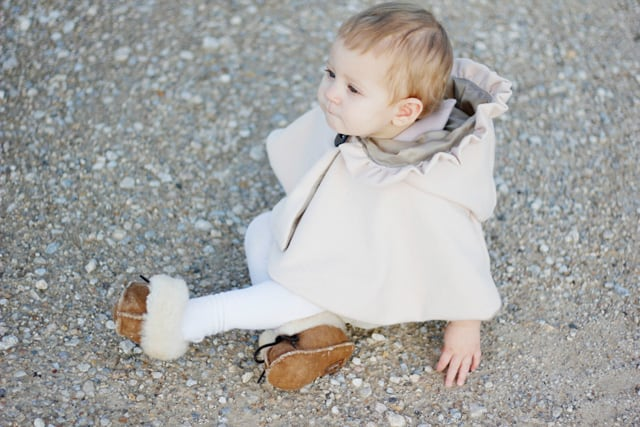 baby style: juliet capelet + minnetonka moccasins