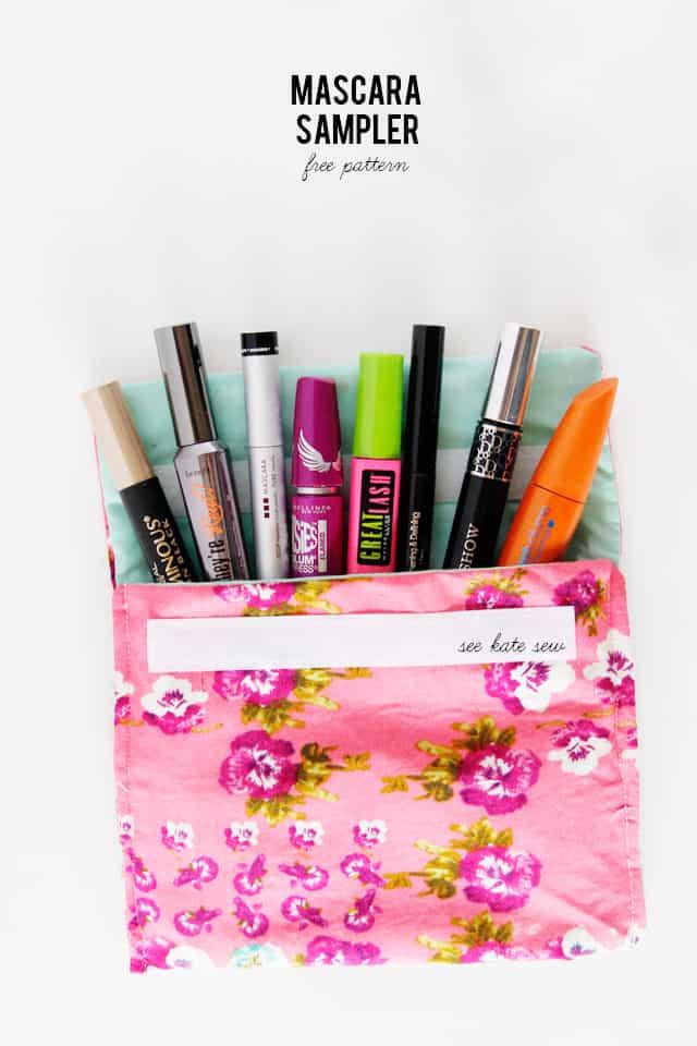 mascara sampler pouch pattern