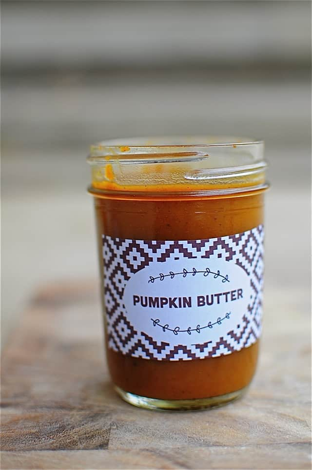 pumpkin butter recipe with free printable label