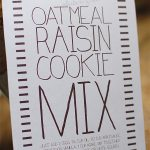 gluten-free oatmeal raisin cookie mix gift idea