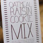 gluten-free oatmeal raisin cookie mix gift idea