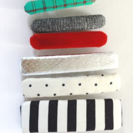 DIY fabric covered hair clips