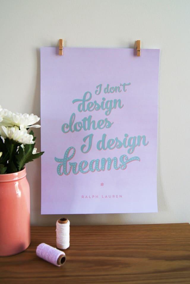 """I don't design clothes, I design dreams"""" Ralph Lauren seekatesew.com"""
