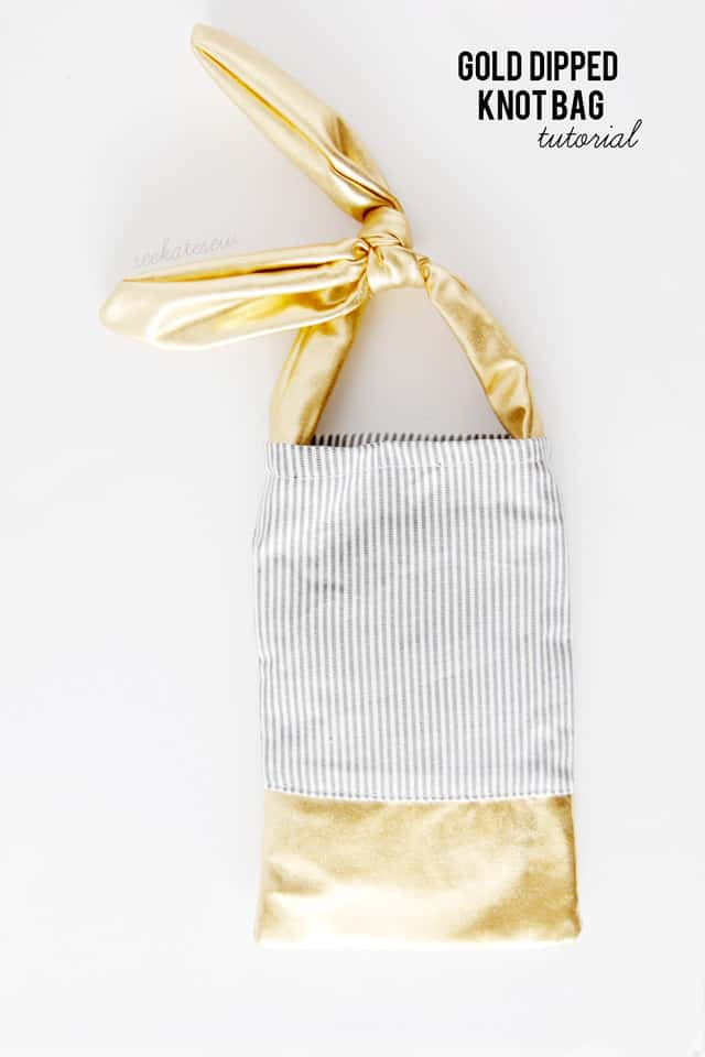 GOLD DIPPED KNOT BAG tutorial