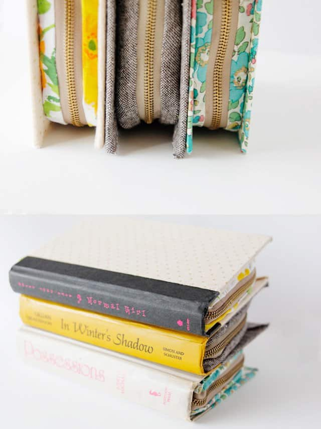 DIY zipper book clutch | sewing tips and tricks | free sewing tutorials | diy book cover || see Kate sew #diybookclutch #bookcover #sewingtips
