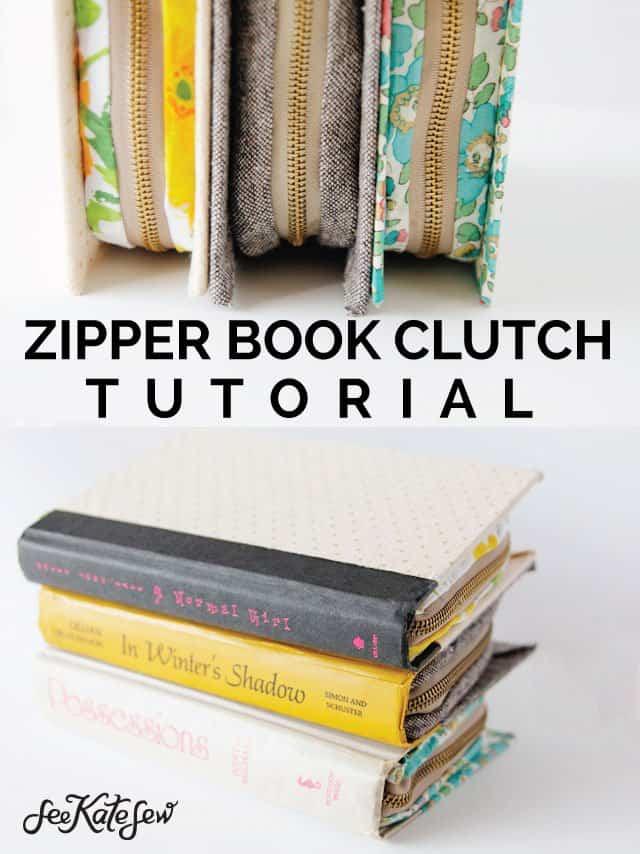 Zipper Book Clutch - See Kate Sew