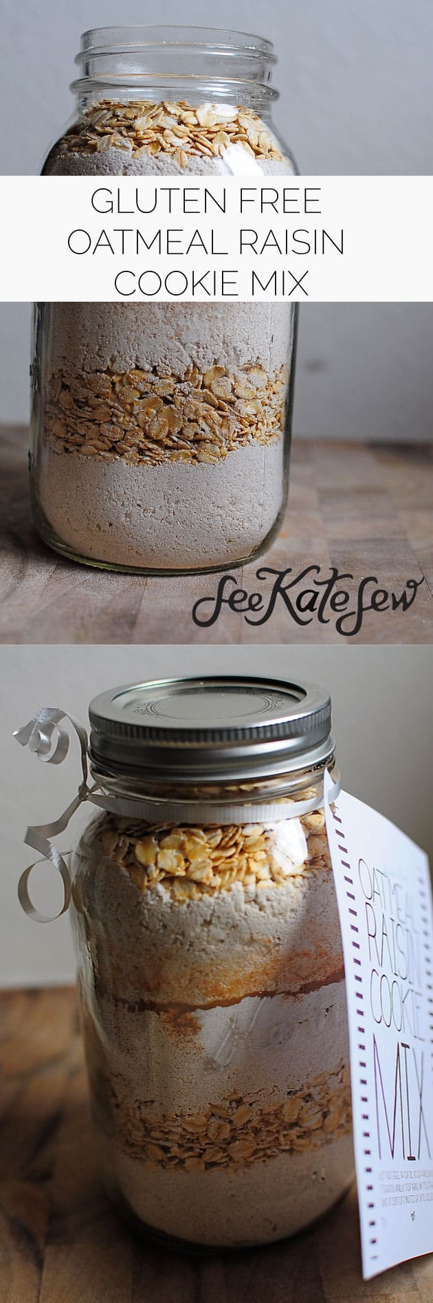 Gluten Free Oatmeal Raisin Cookie Mix|See Kate Sew