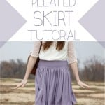 not your grandma's pleated skirt tutorial