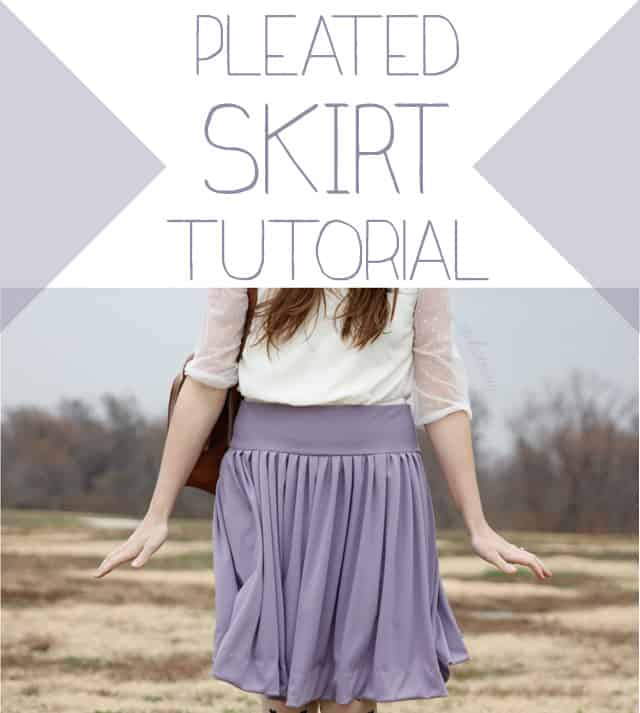 not your grandma's pleated skirt tutorial - see kate sew