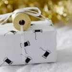 buy + DIY: free printable sewing themed gift wrap!