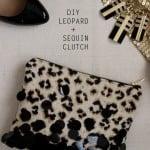 DIY Leopard + Sequin Zipper Clutch