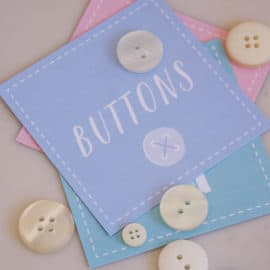 cute labels for sewing room + free printables