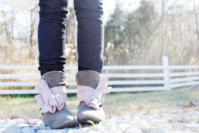 BOW WRAPS FOR BOOTS // tutorial