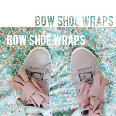 BOW SHOE WRAPS /// cute for your boots!