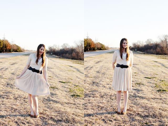 penelope peplum dress