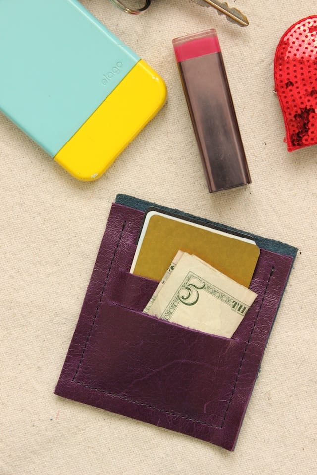 DIY Mini Leather Wallet 1