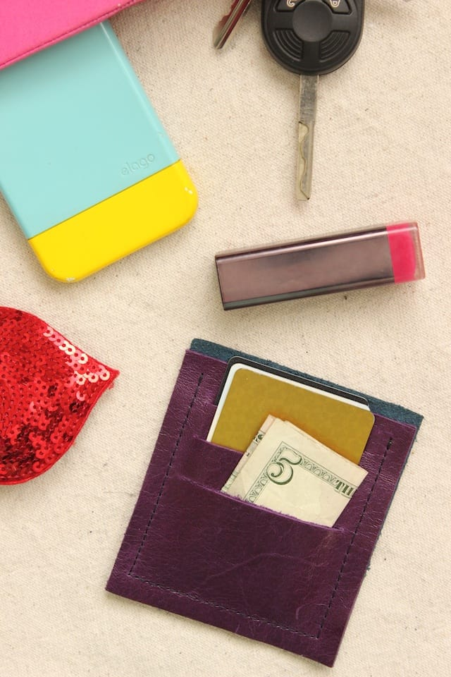 DIY Mini Leather Wallet 3