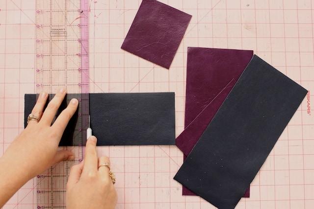 DIY Mini Leather Wallet - Step 1