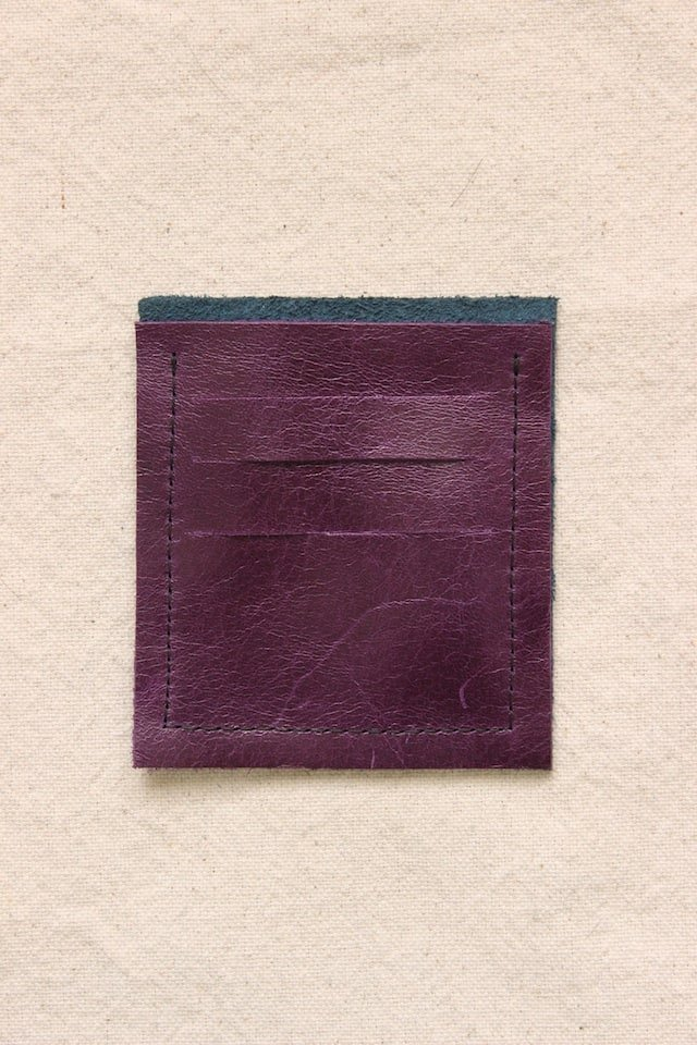 DIY Mini Leather Wallet - Step 3