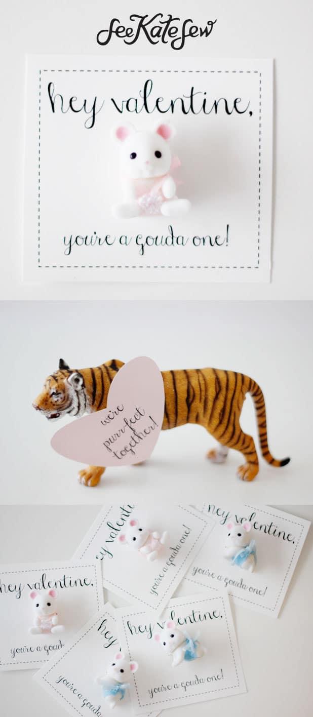 Animal Pun Valentines | See Kate Sew