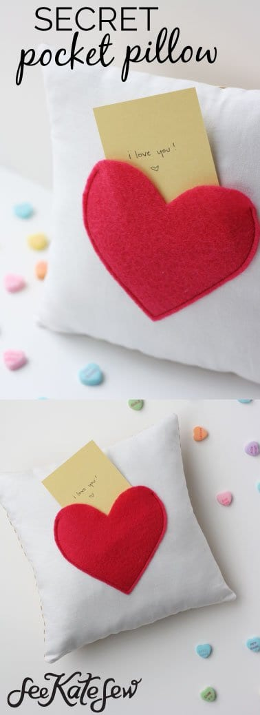 Secret Pocket Pillow Tutorial | See Kate Sew