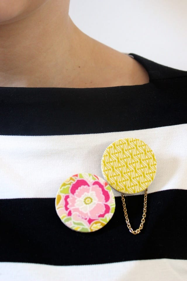 DIY Scrap Fabric Spring Brooches 2