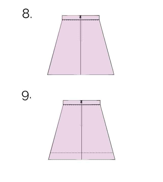 ALINE skirt tutorial and pattern
