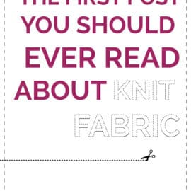 INTRO TO KNIT FABRIC