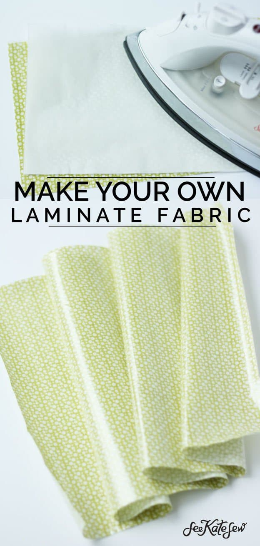 DIY Laminate Fabric|See Kate Sew