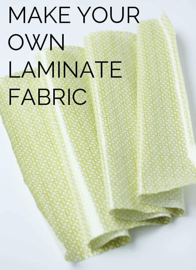 Make your own laminate with any fabric | diy laminate fabric | sewing 101 | sewing tips and tricks | laminate fabric tutorial || See Kate Sew #sewingtips #laminatefabric #sewing101