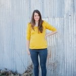 yellow parisian top + jeans