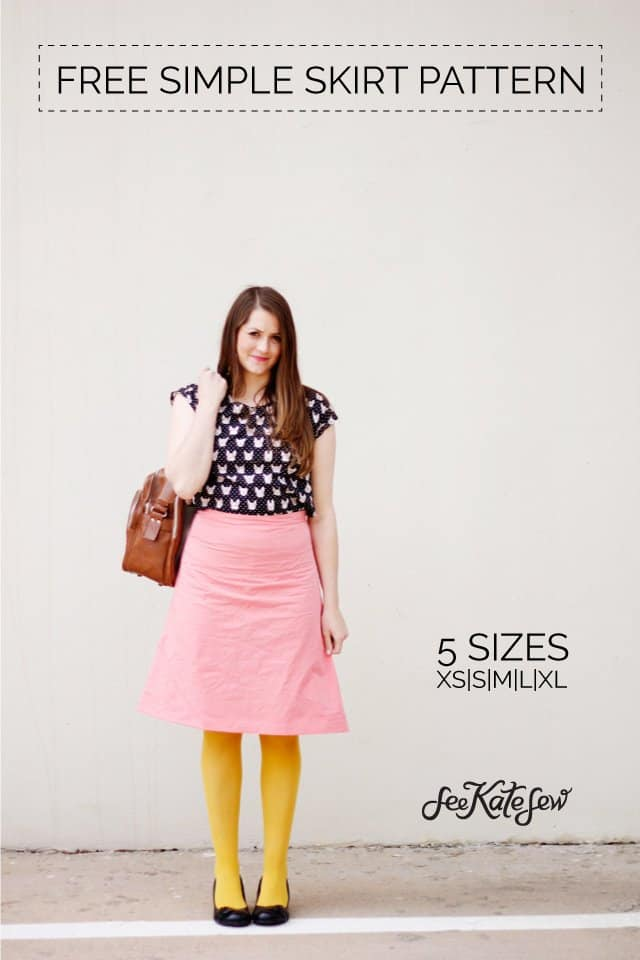 ZIPPERS + a free simple skirt pattern