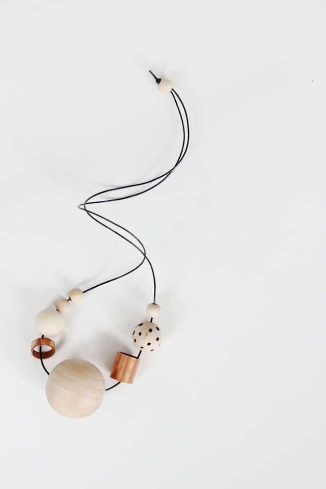 DIY Wood + Copper Necklaces (1)