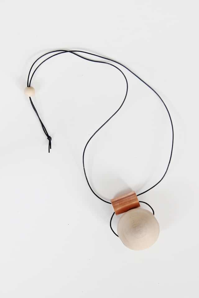 DIY Wood + Copper Necklaces (2)