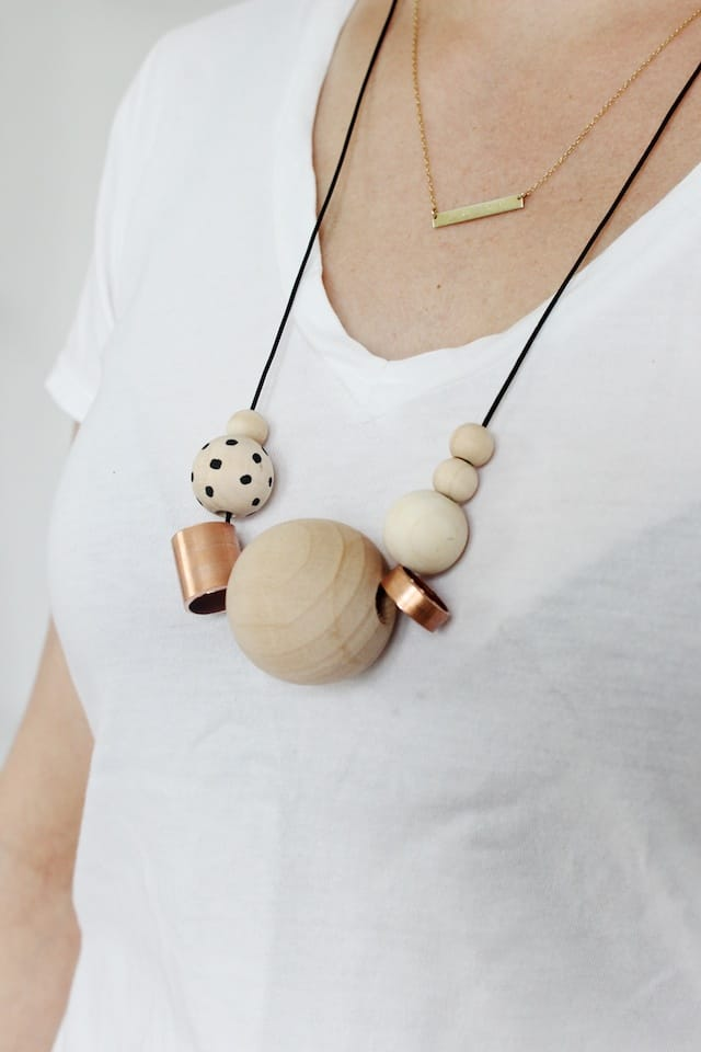 DIY Wood + Copper Necklaces (3)