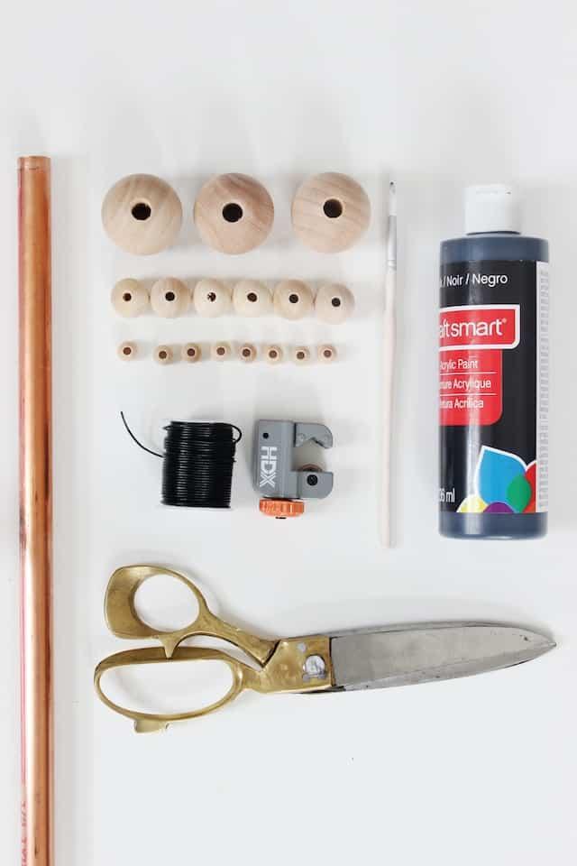 DIY Wood + Copper Necklaces - Materials