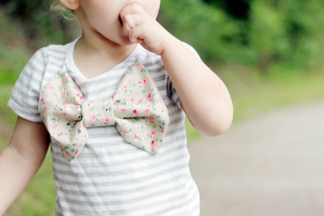 DIY BOW SHIRT // seekatesew.com