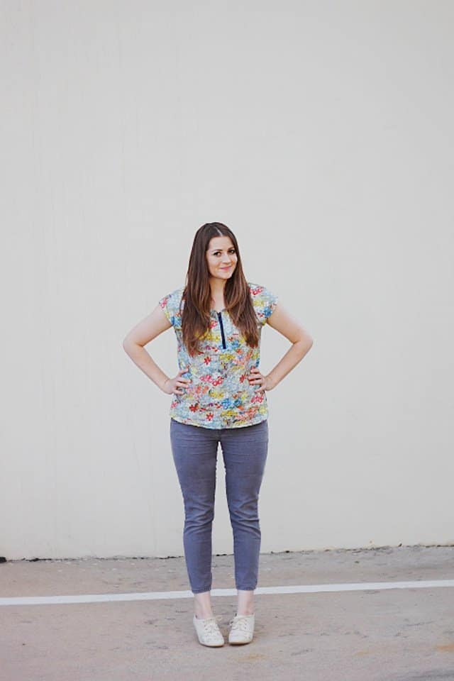 see kate sew // ZIPPY TOP HACK