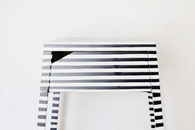 Spray Paint For Metal Striped Ikea Nightstand