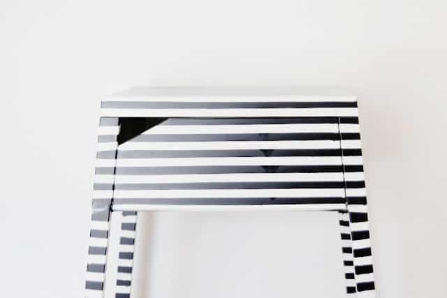 striped ikea nightstand