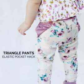 triangle pants pattern with elastic hack tutorial