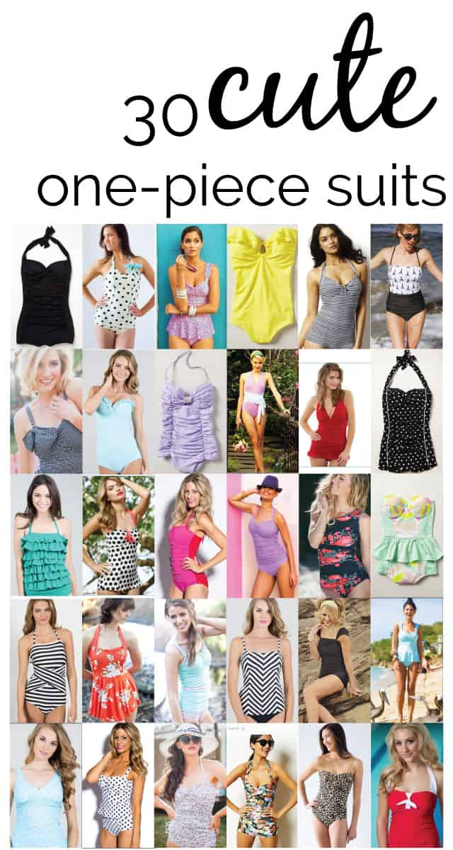 30 cute one-piece swimsuits via seekatesew.com