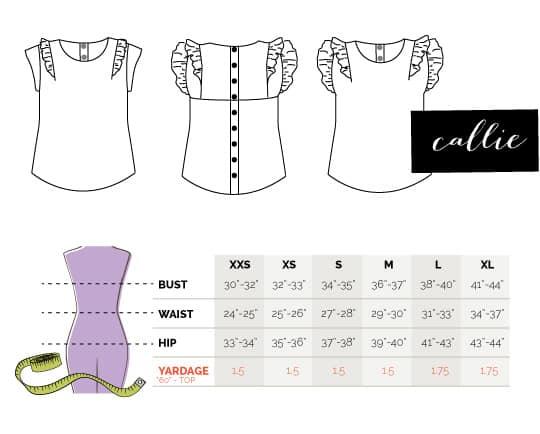 callie-measurements