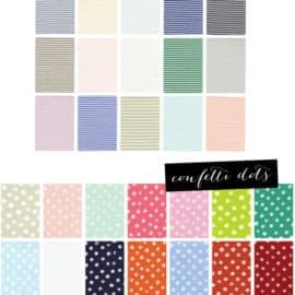 stripes and confetti dots